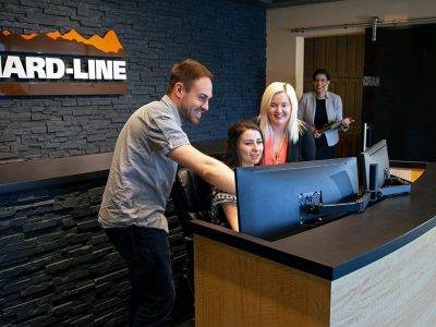 HARD-LINE Employees at the Front Desk