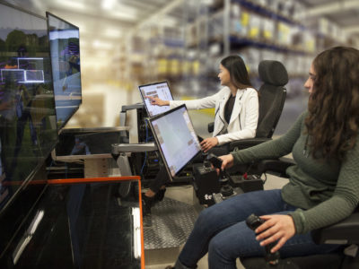 TeleOp Chairs in use by HARD-LINE Employees