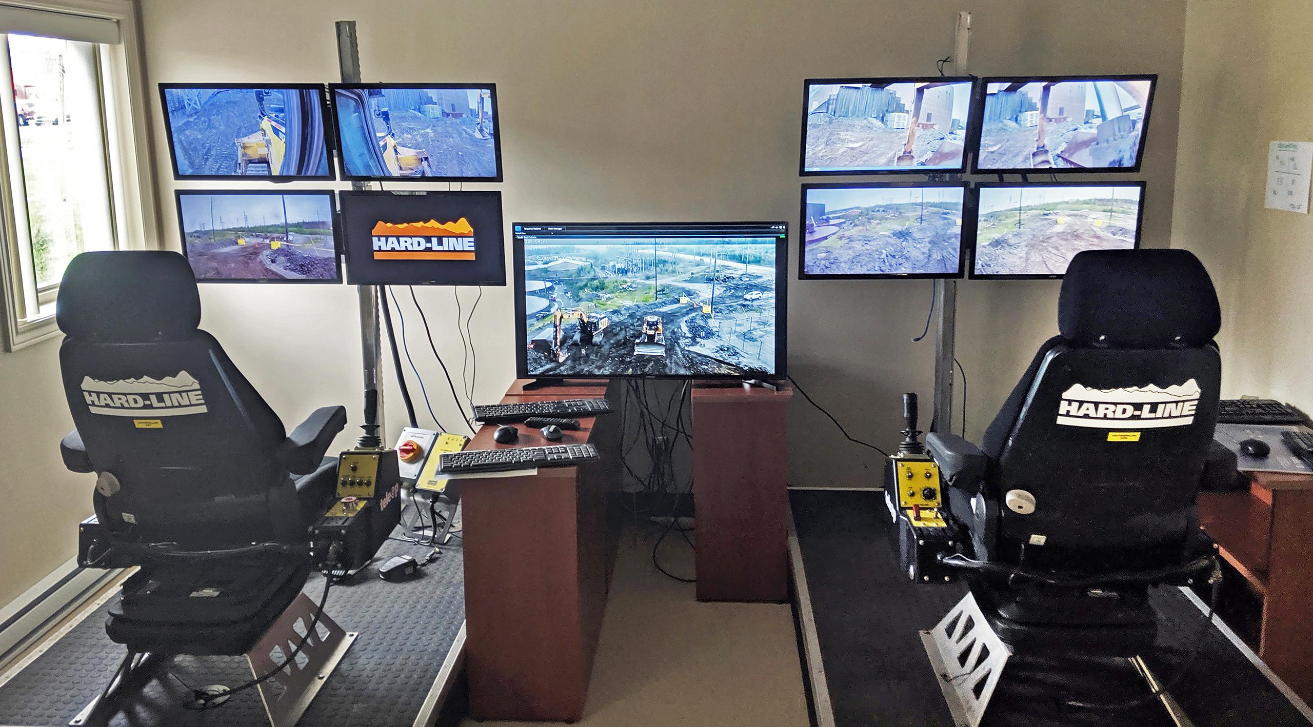 Le système TeleOp qui exploite des machines lourdes à partir d'un environnement ergonomique
