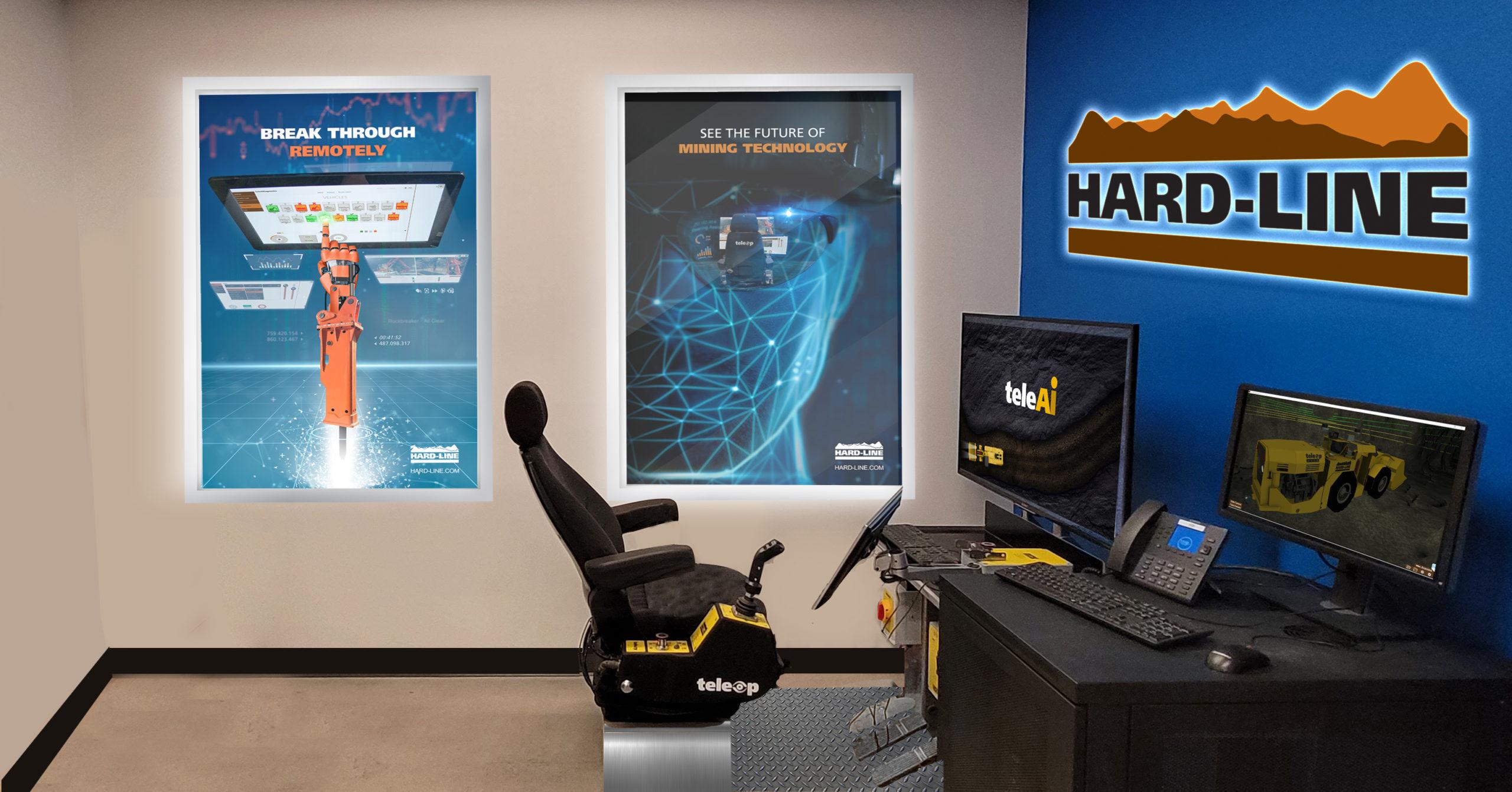 HARD-LINE TeleOp chair and gear in NORCAT office